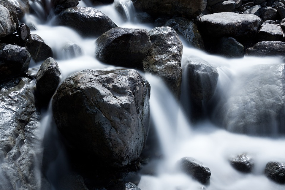 waterfall, wellness, health, water flowing, stones, river rocks, nature, emotions, obligation, intention,