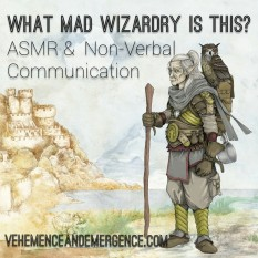 art, owl, elf man, castle, imaginary world, wizard, non-verbal communication, connection, body language, ASMR, sensory triggers, sensory, ASMRtist, non-verbal communication,