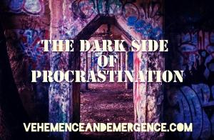 anxiety, dark side, procrastination, reinforcement, positive reinforcement, graffiti, warehouse, shadows