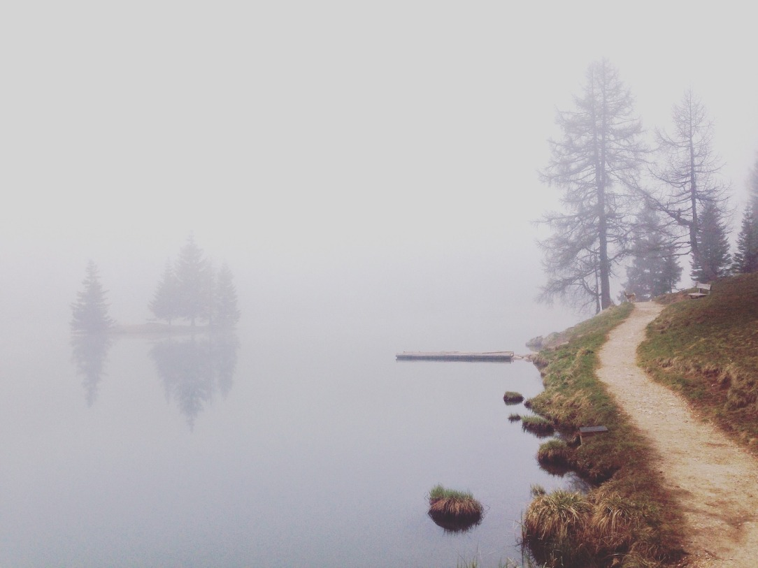 Mist filled path, water , mists, types of thinking, types of remembering
