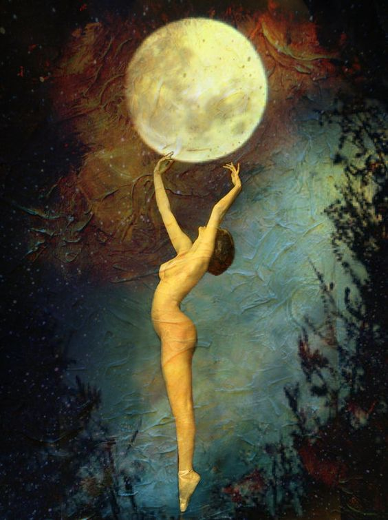 moon, naked woman, full moon, ceremony, art, moon art