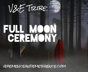 full moon, tribe, forest, wolf, red riding hood, mist, ceremony