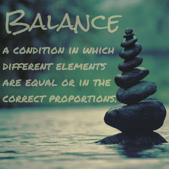 Balance, different elements are equal or in proportion, finding a balance with procrastination, definition of balance, balance definition,