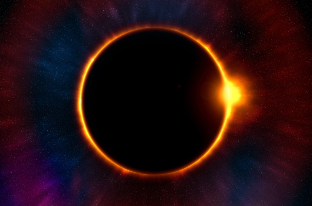 Eclipse, Dark and Light, Positive in the Negative, Skills developed from prolonged procrastination, ADHD, universe, solar eclipse